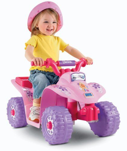 1 Year Old Baby Girl Gift Ideas  $88 99 Power Wheels Barbie Lil Quad All the sporty ATV