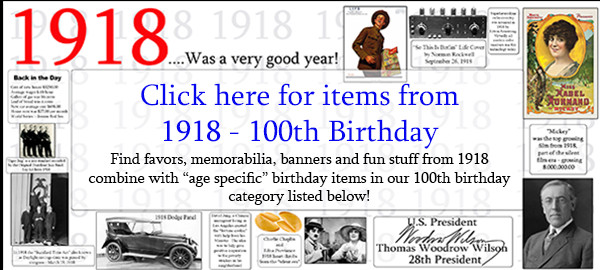 100 Year Old Birthday Decorations  100th birthday party supplies for 100 year celebrations