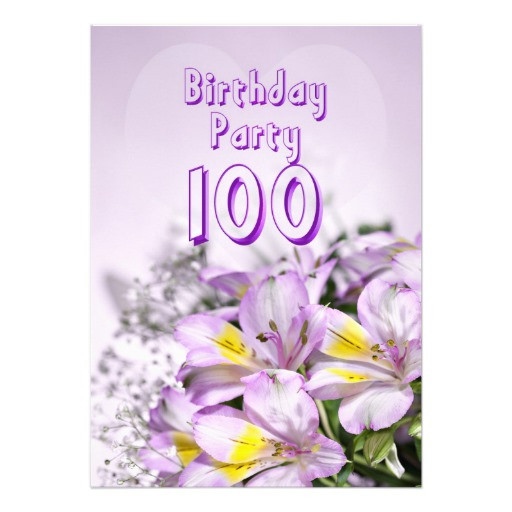 100 Year Old Birthday Decorations  Birthday party invitation 100 years old