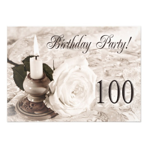 100 Year Old Birthday Decorations  Birthday party invitation 100 years old 13 cm x 18 cm