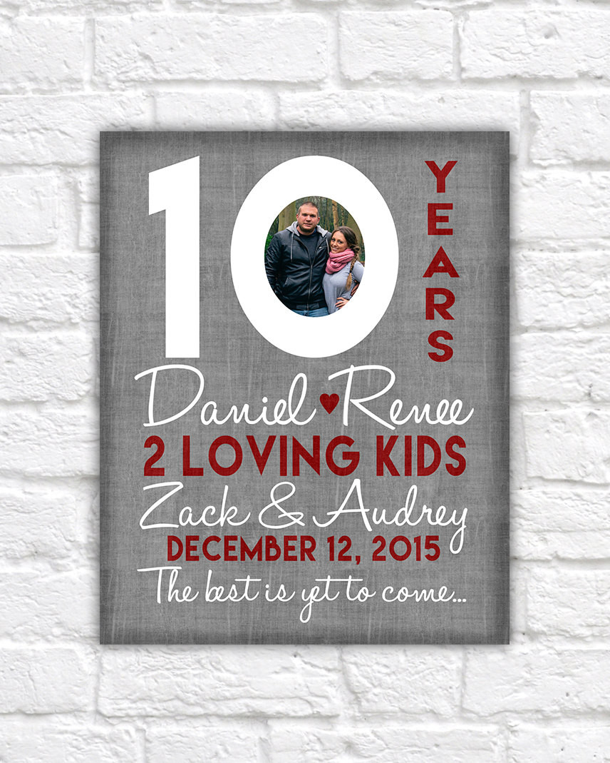 10Th Anniversary Gift Ideas For Him  10th Wedding Anniversary Gift 10 Year Anniversaries