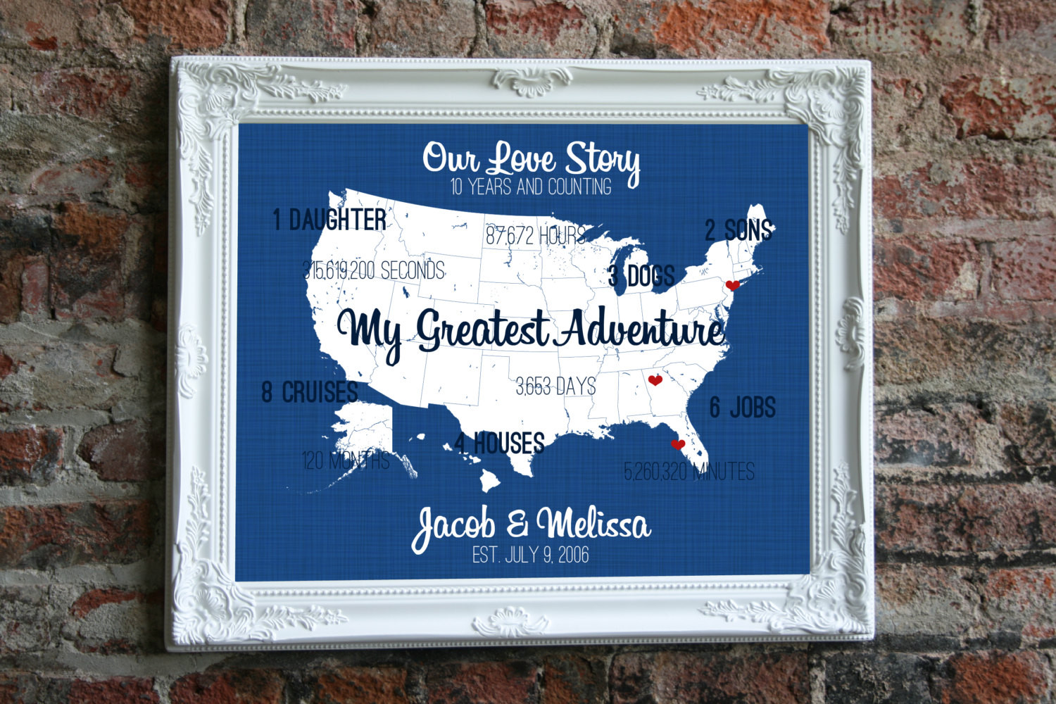 10Th Anniversary Gift Ideas For Him  10 Year Anniversary Gift for Him 10th Anniversary by