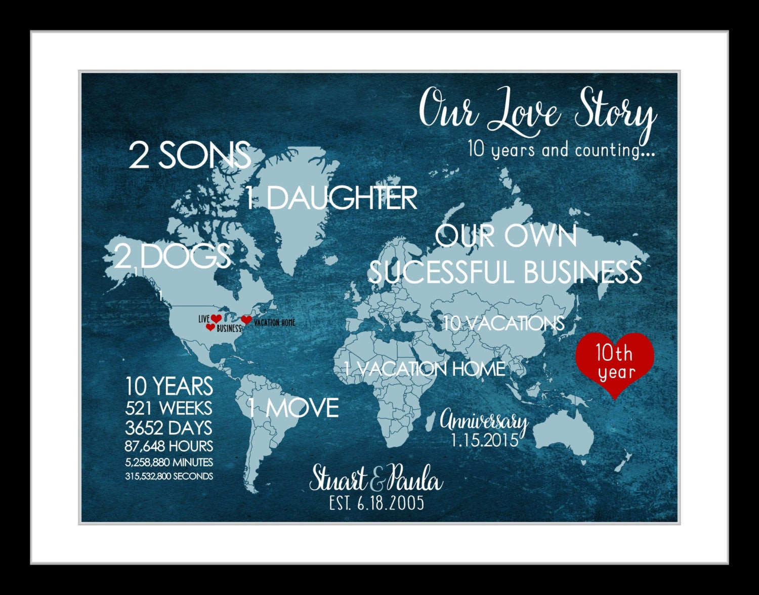 10Th Anniversary Gift Ideas For Him  10 Year Anniversary Gift For Men Him 10th Wedding Anniversary