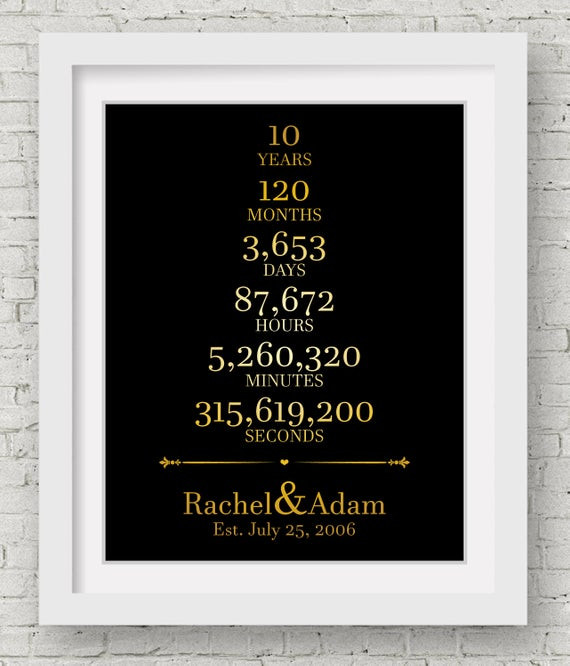 10Th Anniversary Gift Ideas For Him  10th Anniversary Gift For Him Wedding Gift Ideas Bridal Shower