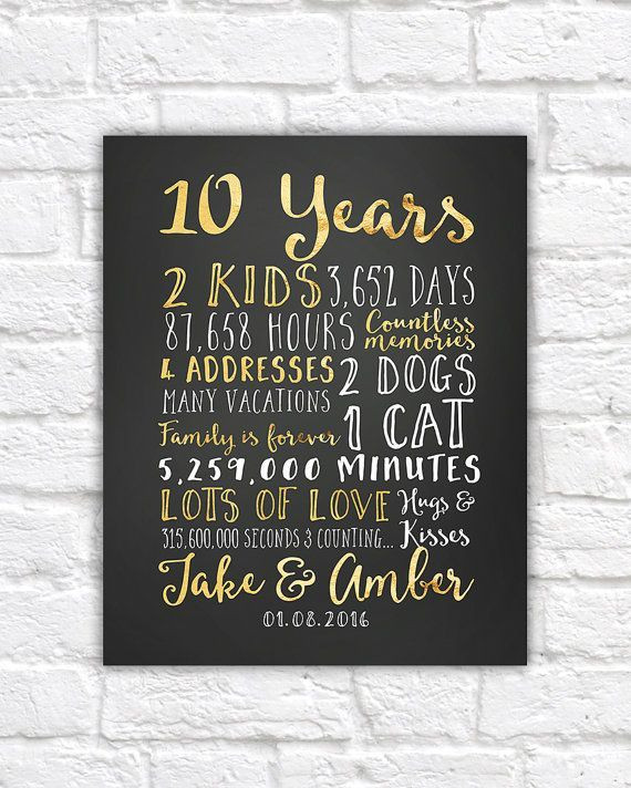 10Th Anniversary Gift Ideas For Him  17 Best ideas about 10th Anniversary Gifts on Pinterest