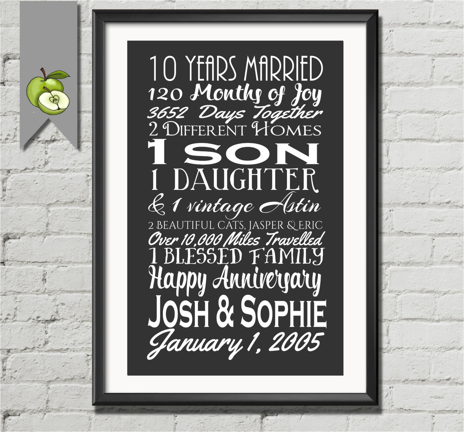 10Th Anniversary Gift Ideas For Him  10th Wedding Anniversary Gift Ideas For Wife