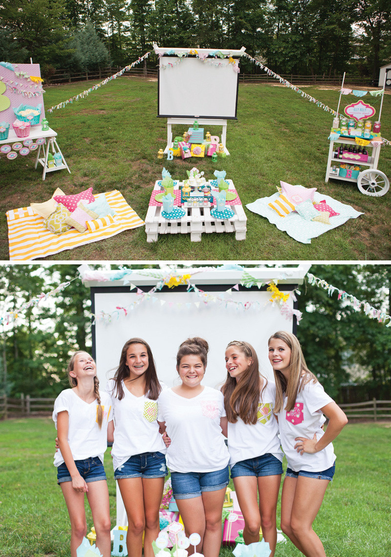 15 Year Old Birthday Party Ideas Summer  Trendy Outdoor Movie Night Teen Birthday Party Hostess