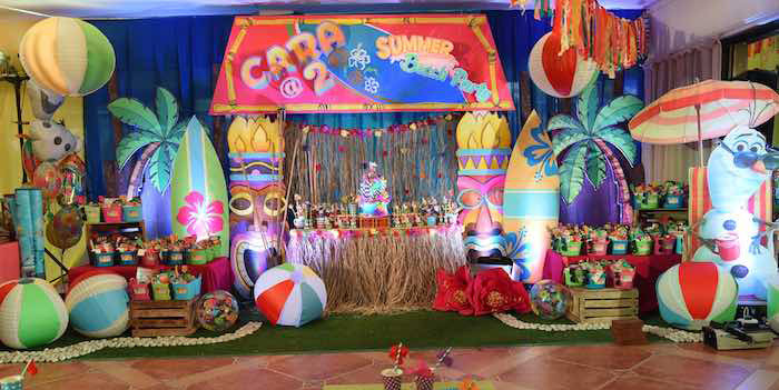 15 Year Old Birthday Party Ideas Summer  Kara s Party Ideas Olaf s Tropical Summer Birthday Party