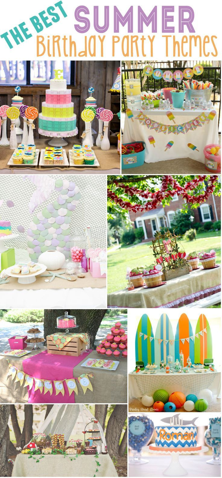 15 Year Old Birthday Party Ideas Summer  15 Best Summer Birthday Party Themes
