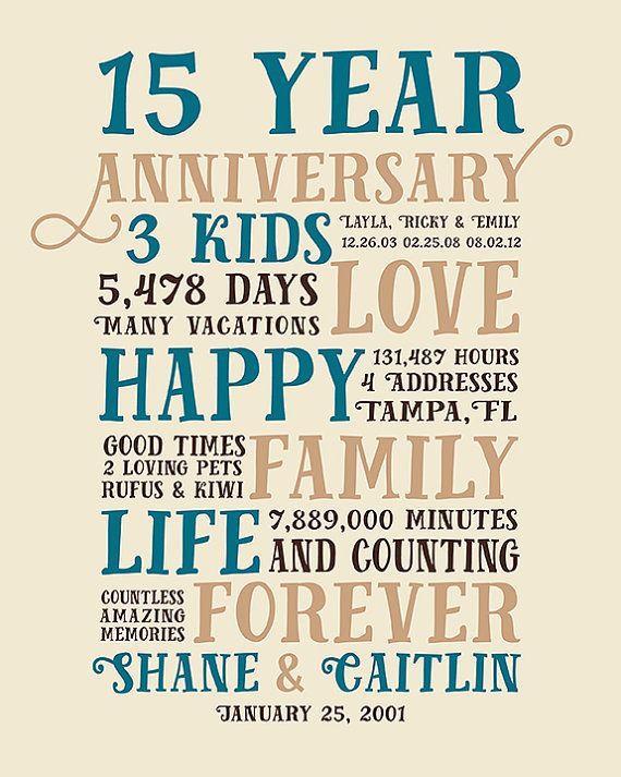 15 Year Wedding Anniversary Quotes  Best 25 15 year anniversary ideas on Pinterest