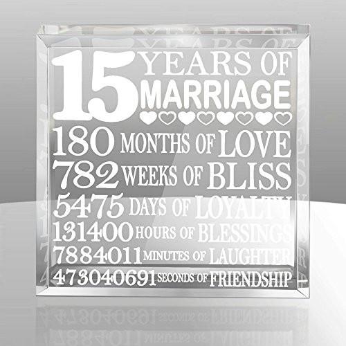 15 Year Wedding Anniversary Quotes  15th Anniversary Gifts Amazon