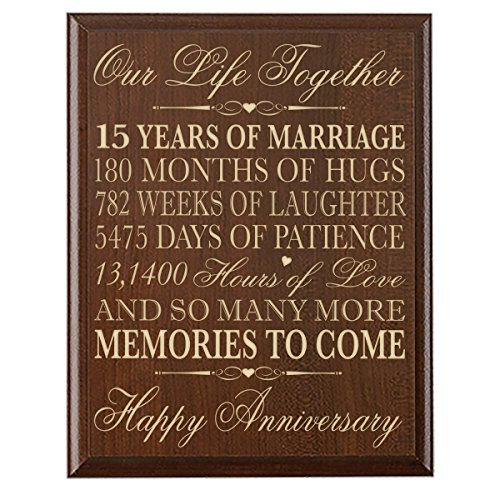 15 Year Wedding Anniversary Quotes  15th Wedding Anniversary Gift Ideas for Her