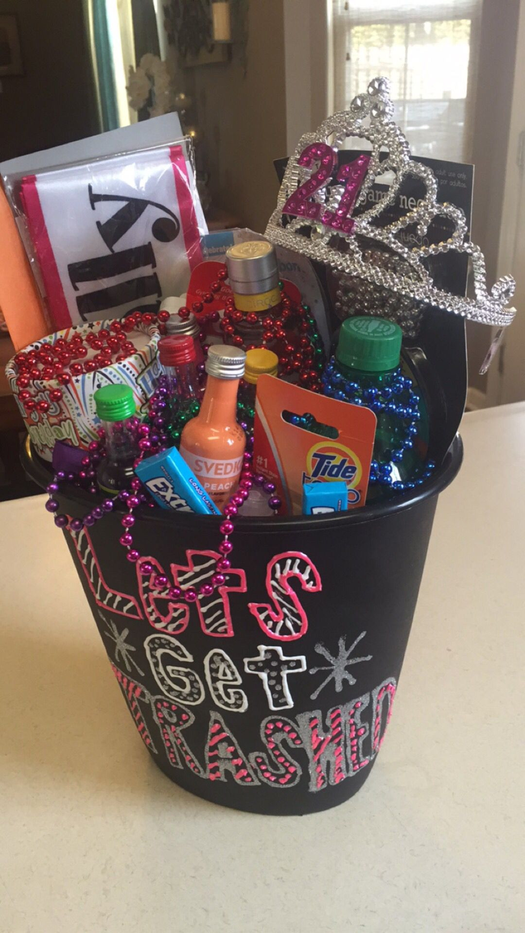 """21St Birthday Gifts  21st birthday t In a trash can saying """"let s"""