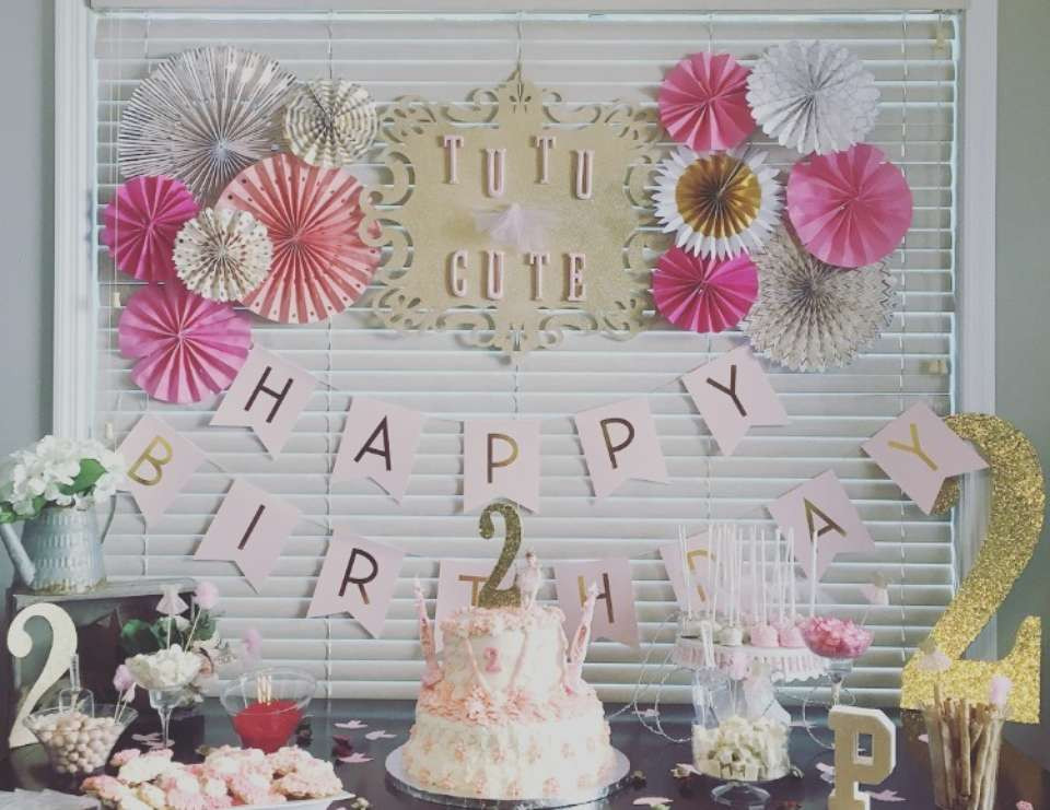 "2Nd Birthday Decorations For Girl  Tutus Birthday ""Payton s TuTu Cute 2nd Birthday Party"