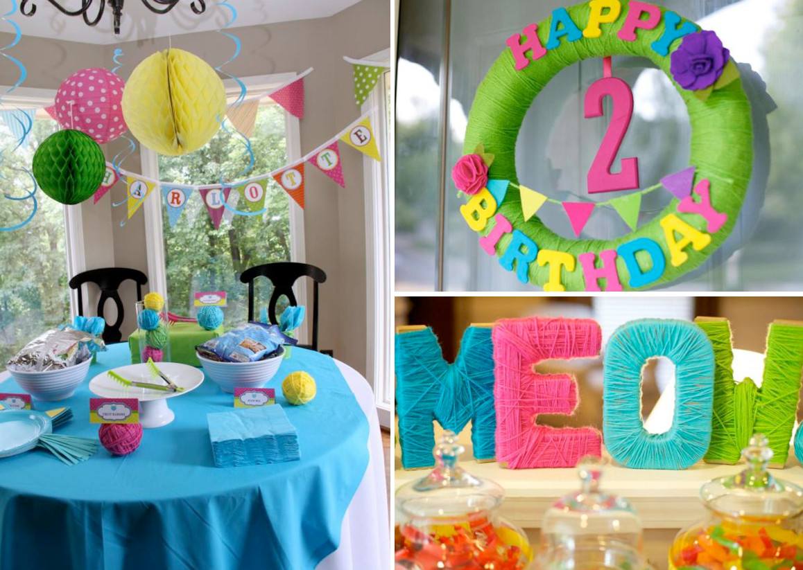 2Nd Birthday Decorations For Girl  Kara s Party Ideas Cat Kitty Themed 2nd Birthday Party