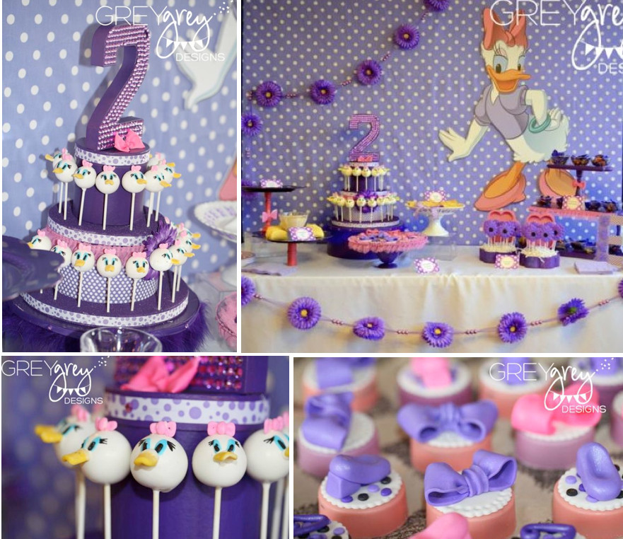 2Nd Birthday Decorations For Girl  Kara s Party Ideas Disney Daisy Duck Purple Girl 2nd