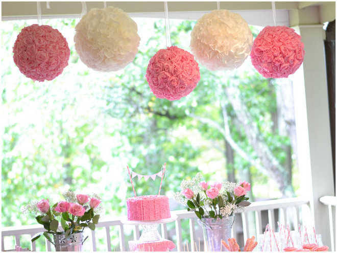 2Nd Birthday Decorations For Girl  Ruffles and Roses Second Birthday Party