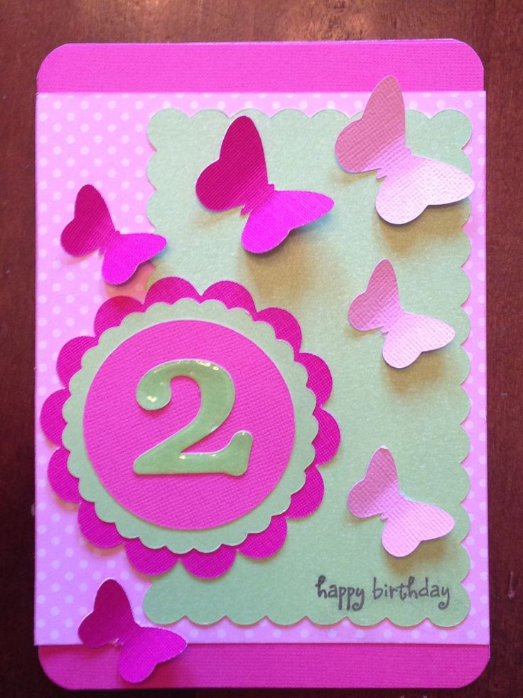 2Nd Birthday Gift Ideas For Girls  25 best 2nd birthday cards for girls images on Pinterest