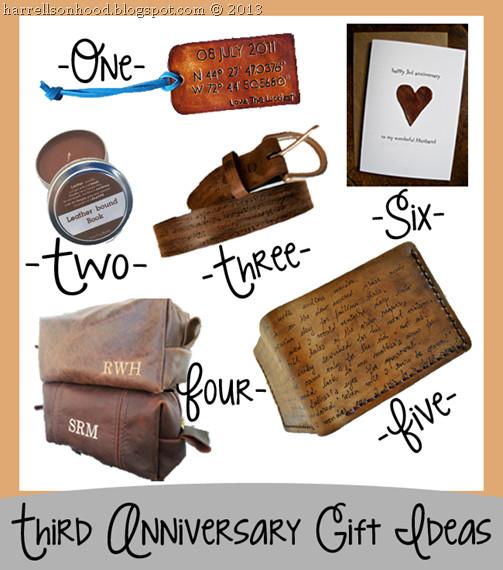3 Year Wedding Anniversary Gift Ideas For Him  third anniversary leather t ideas for him etsy finds