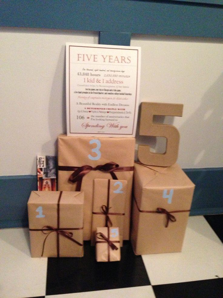 3 Year Wedding Anniversary Gift Ideas For Him  Best 25 5 year anniversary ideas on Pinterest