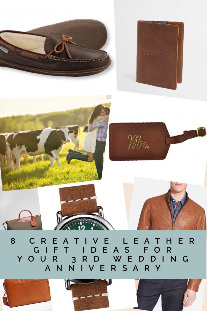 3 Year Wedding Anniversary Gift Ideas For Him  8 Creative Leather Gift Ideas for your 3rd Wedding