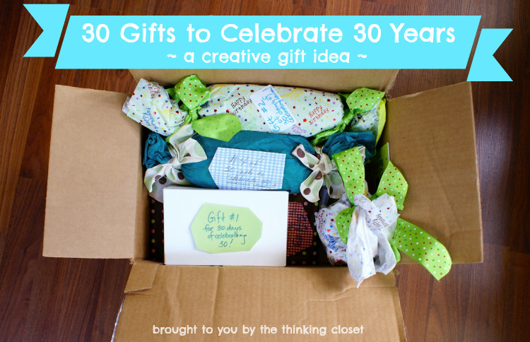 30 Gifts For 30Th Birthday For Her  30 Gifts to Celebrate 30 Years the thinking closet