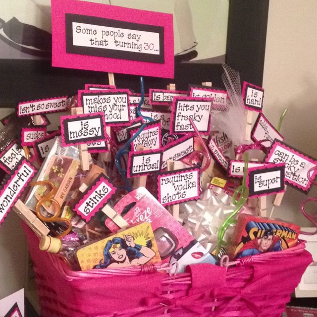 30 Gifts For 30Th Birthday For Her  Turning 30 Birthday Basket Crafts