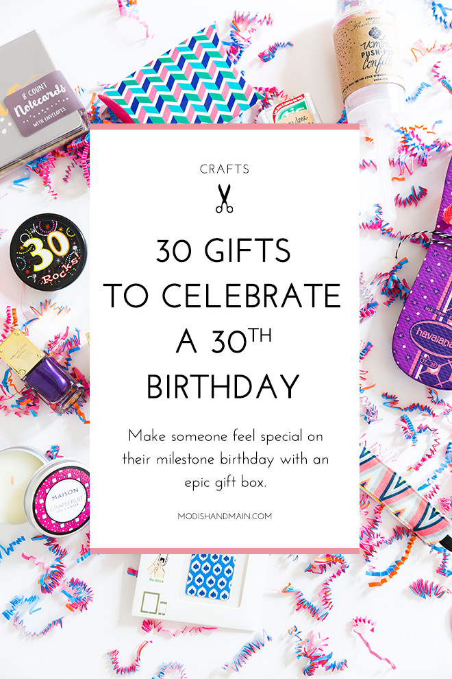 30 Gifts For 30Th Birthday For Her  30 Gifts For 30th Birthday