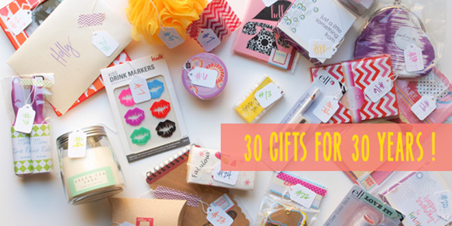 30 Gifts For 30Th Birthday For Her  30 Gifts For 30 Years