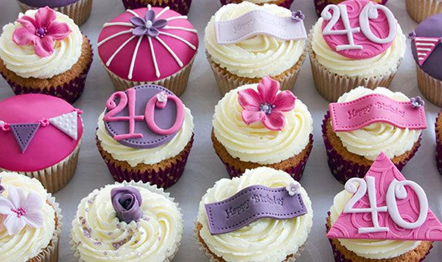 40Th Birthday Cupcakes Ideas  25 Best Ideas about 40th Birthday Cupcakes on Pinterest