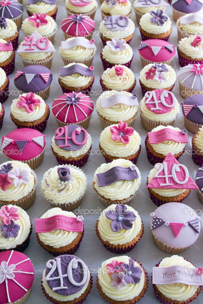 40Th Birthday Cupcakes Ideas  17 Best ideas about 40th Birthday Cupcakes on Pinterest
