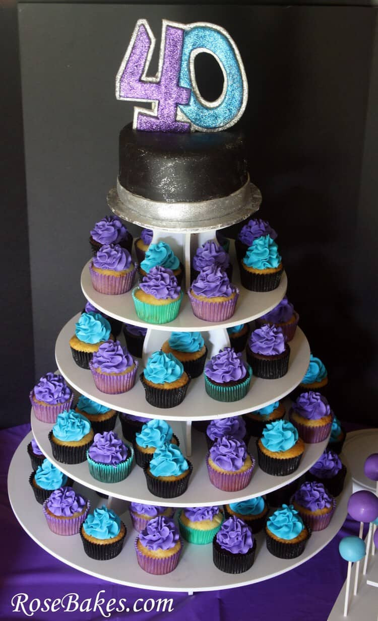 40Th Birthday Cupcakes Ideas  40th Birthday Cake Cupcakes & Cake Pops A Party for my