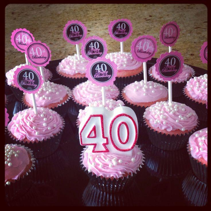 40Th Birthday Cupcakes Ideas  Best 25 40th birthday cupcakes ideas on Pinterest