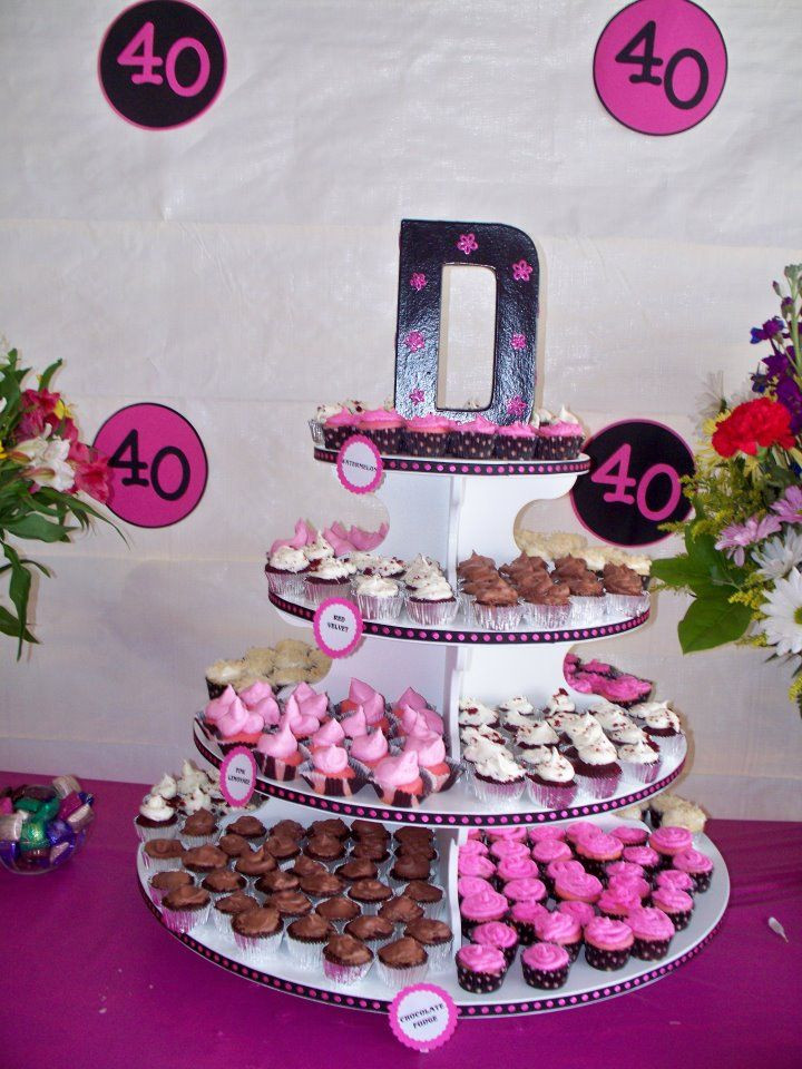40Th Birthday Cupcakes Ideas  42 best images about Cupcake Stand ideas on Pinterest