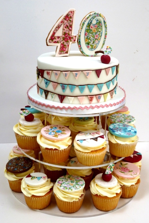 40Th Birthday Cupcakes Ideas  15 best 40th Birthday Cupcakes images on Pinterest