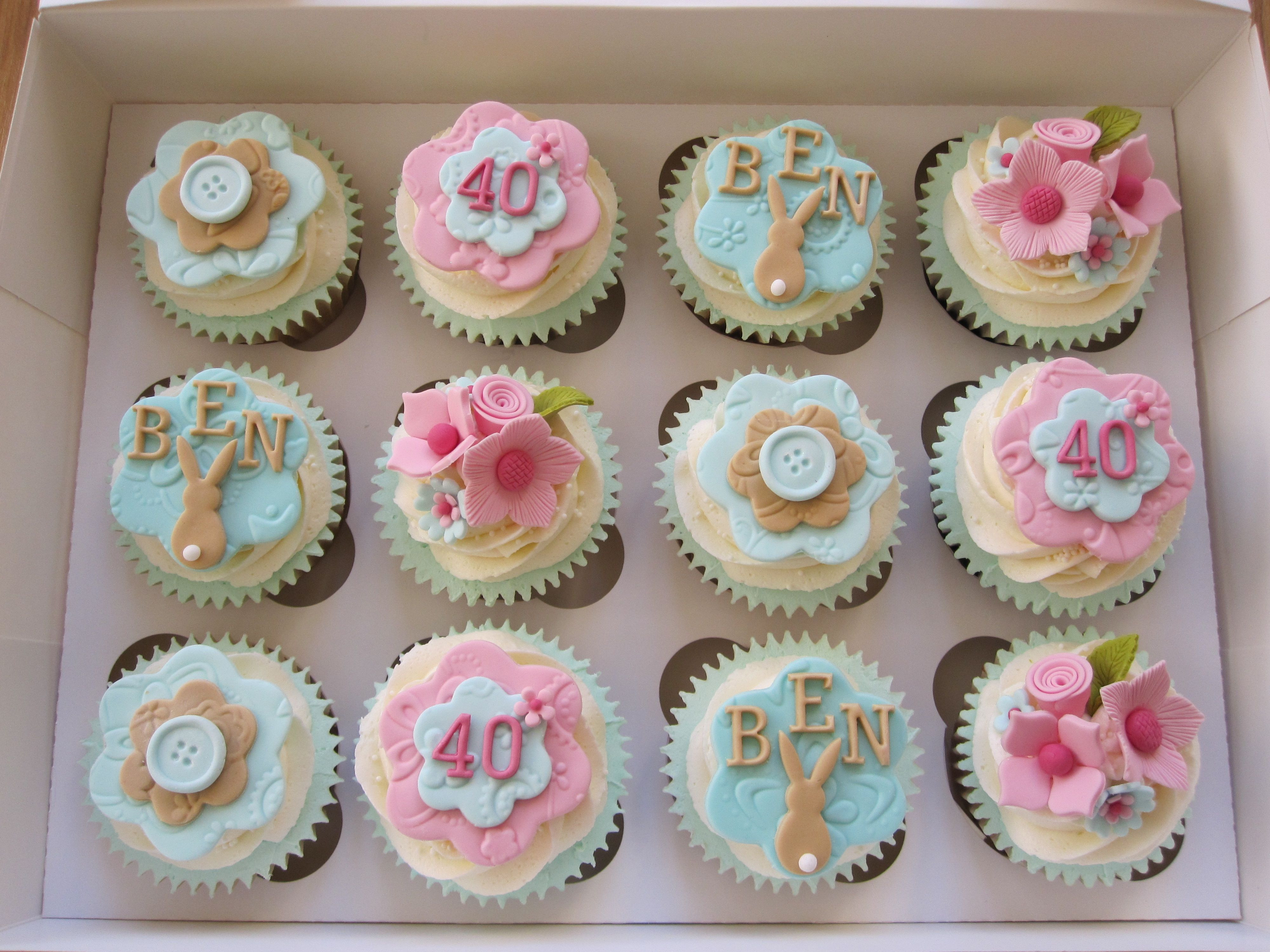 40Th Birthday Cupcakes Ideas  Cupcakes made for a lady who was celebrating her 40th