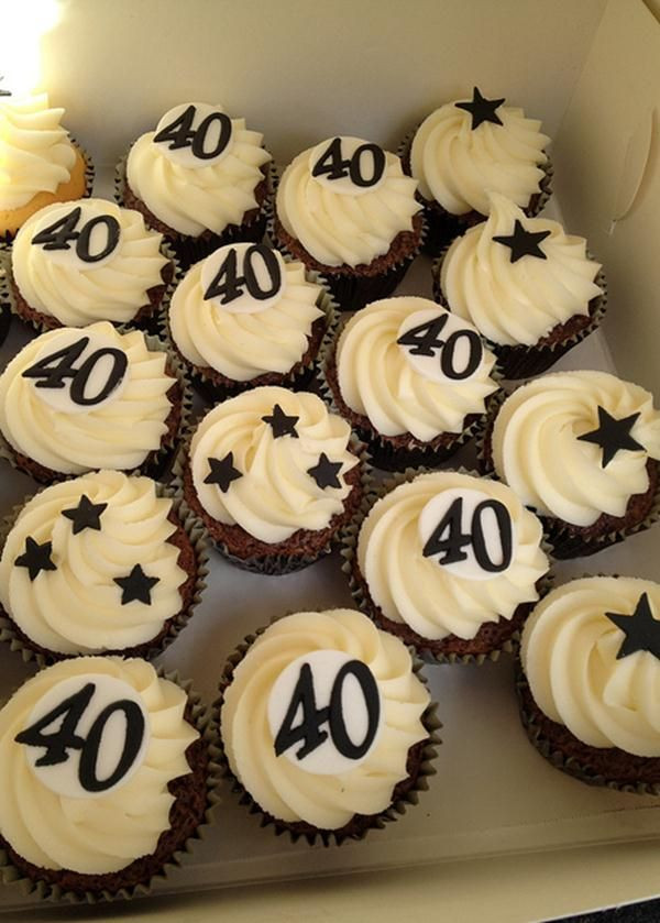 40Th Birthday Cupcakes Ideas  25 Best Ideas about 40th Birthday Cakes on Pinterest