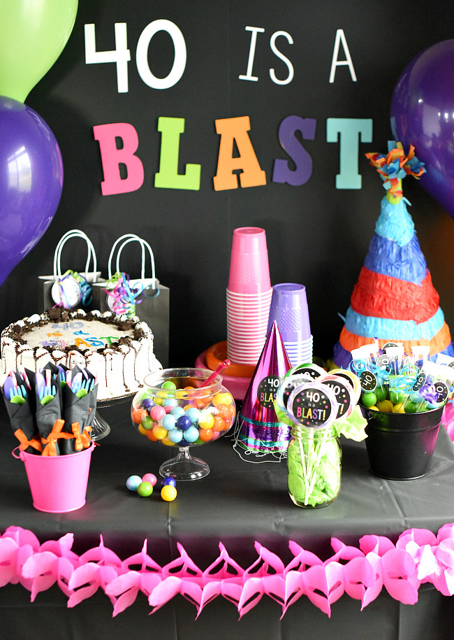 40Th Birthday Decorations Ideas  40th Birthday Party Throw a 40 Is a Blast Party