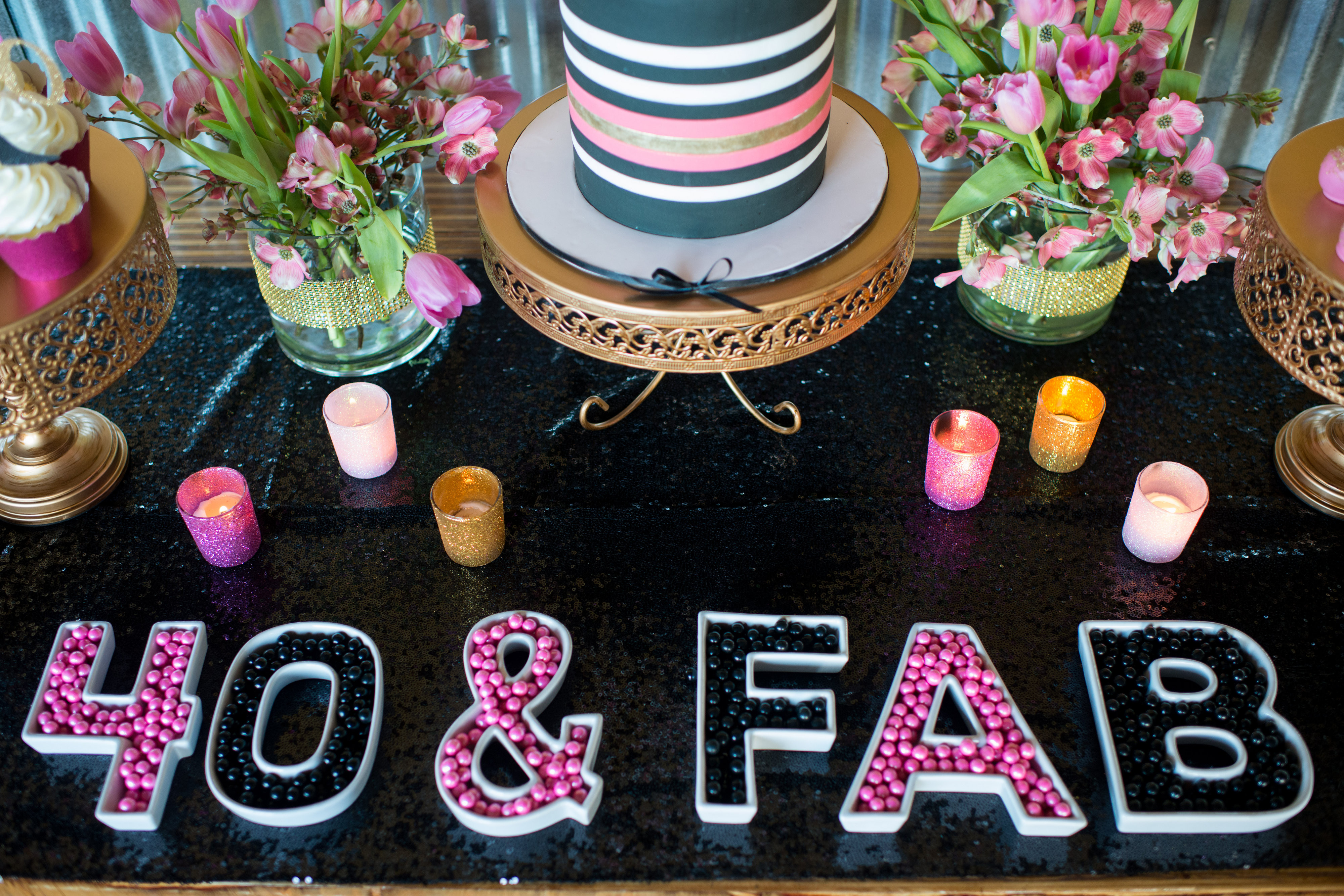 40Th Birthday Decorations Ideas  Glamorous 40th Birthday Party Pretty My Party Party Ideas