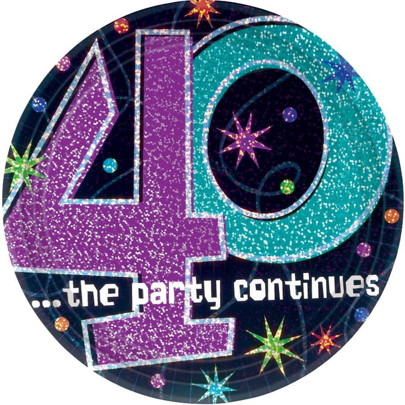 40Th Birthday Decorations Ideas  The Party Continues 40th Birthday Cake Plates Party