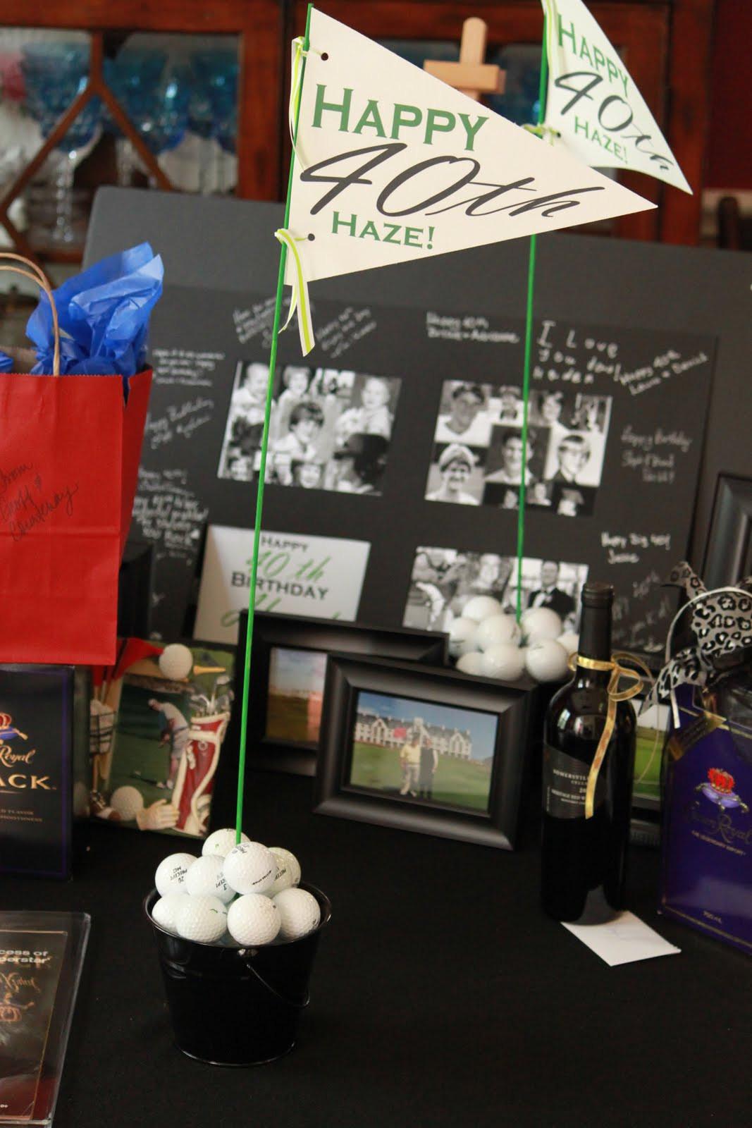 40Th Birthday Decorations Ideas  The Blackberry Vine 40th Birthday Golf Party Decorations