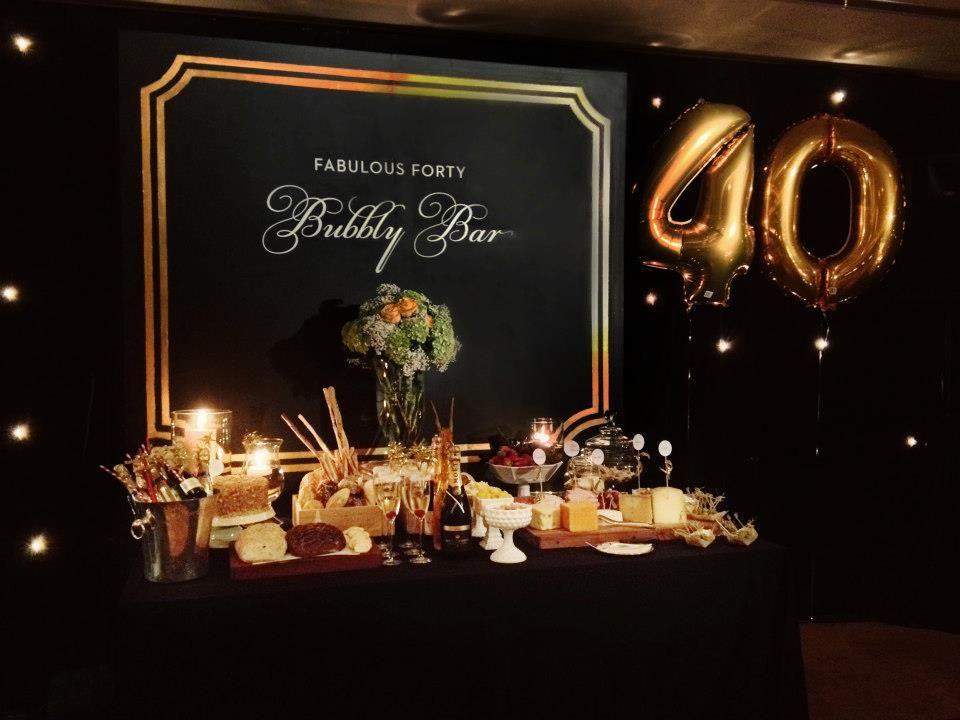 40Th Birthday Decorations Ideas  unique 40th birthday for husband