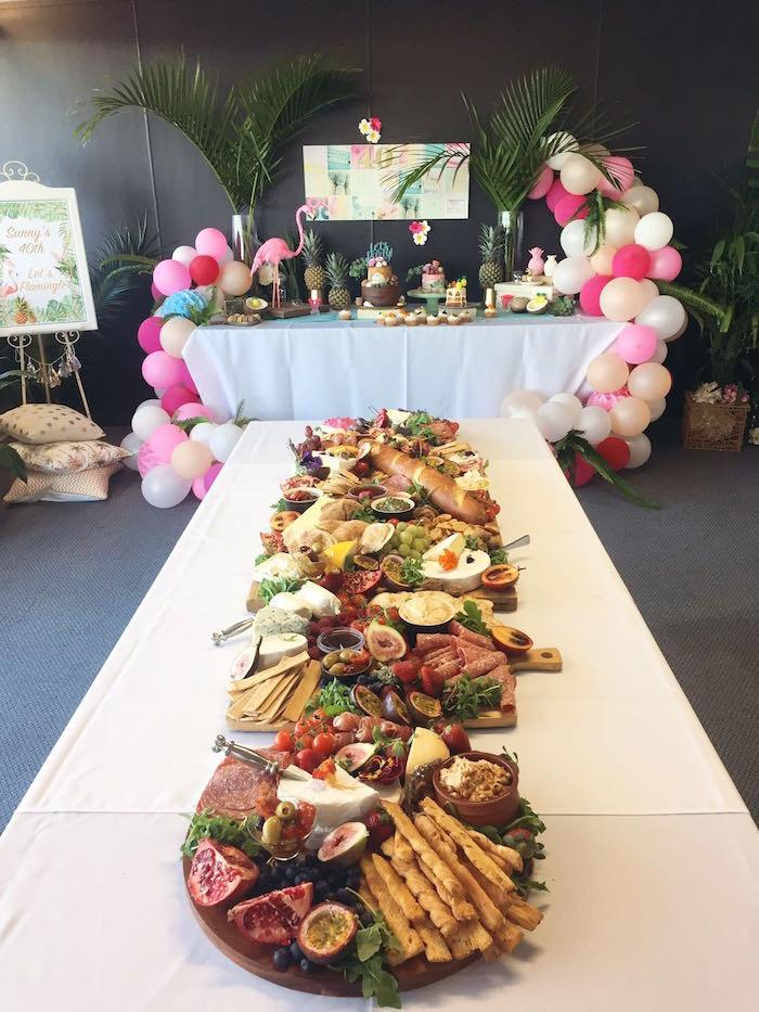 40Th Birthday Decorations Ideas  Kara s Party Ideas 40th Birthday Tropical Soiree