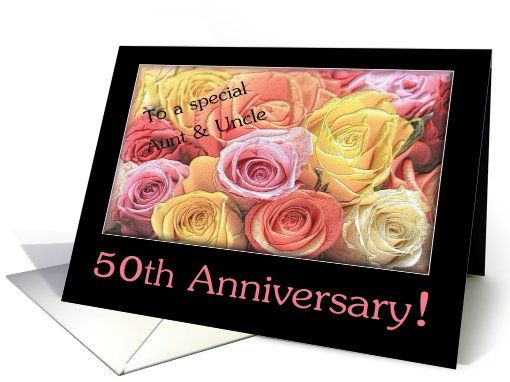 50Th Wedding Anniversary Gift Ideas For Aunt And Uncle  59 best images about Happy Anniversary Cards on Pinterest