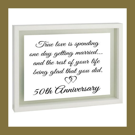 50Th Wedding Anniversary Gift Ideas For Aunt And Uncle  Anniversary Gift for Parents 50th Golden by TillyJeanDesigns