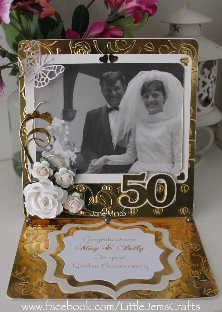 50Th Wedding Anniversary Gift Ideas For Aunt And Uncle  286 best 50th anniversary cards images on Pinterest