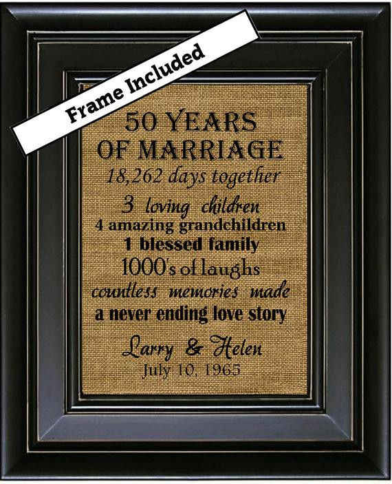50Th Wedding Anniversary Gift Ideas For Aunt And Uncle  50th Wedding Anniversary 50th Anniversary Gifts 50th