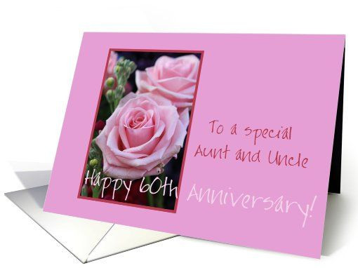 50Th Wedding Anniversary Gift Ideas For Aunt And Uncle  60th Anniversary Aunt and Uncle card