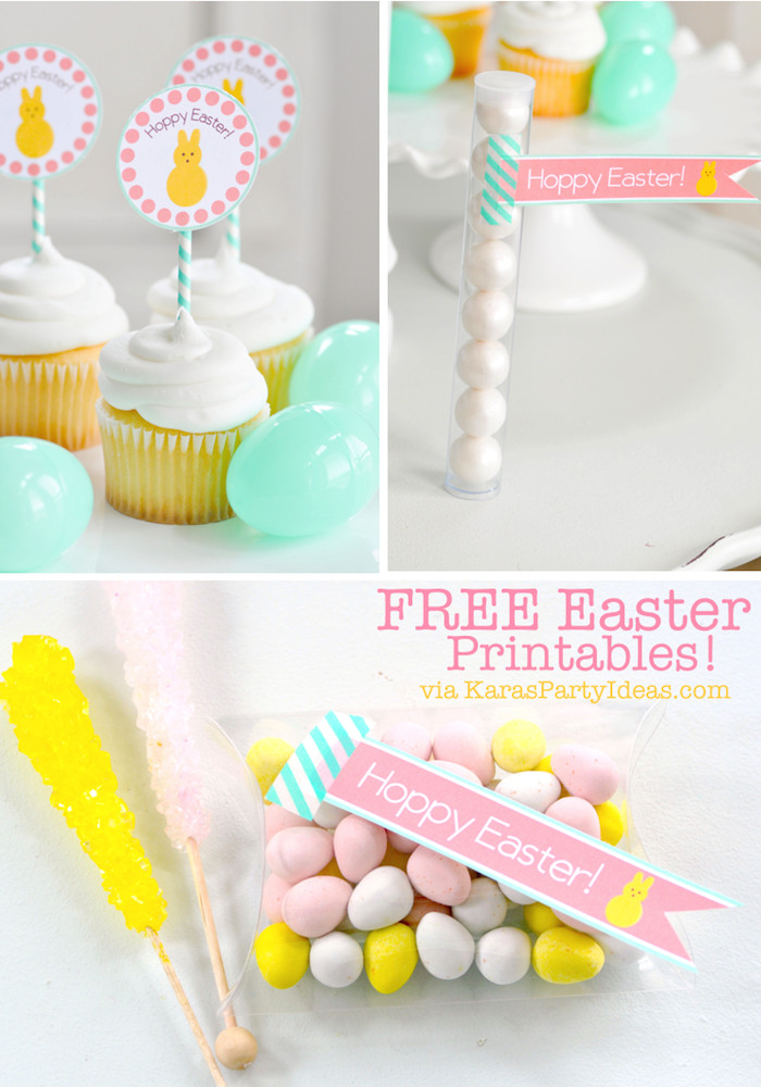 "5Th Grade Easter Party Ideas  Kara s Party Ideas FREE Printable ""Hoppy Easter"" Tags"