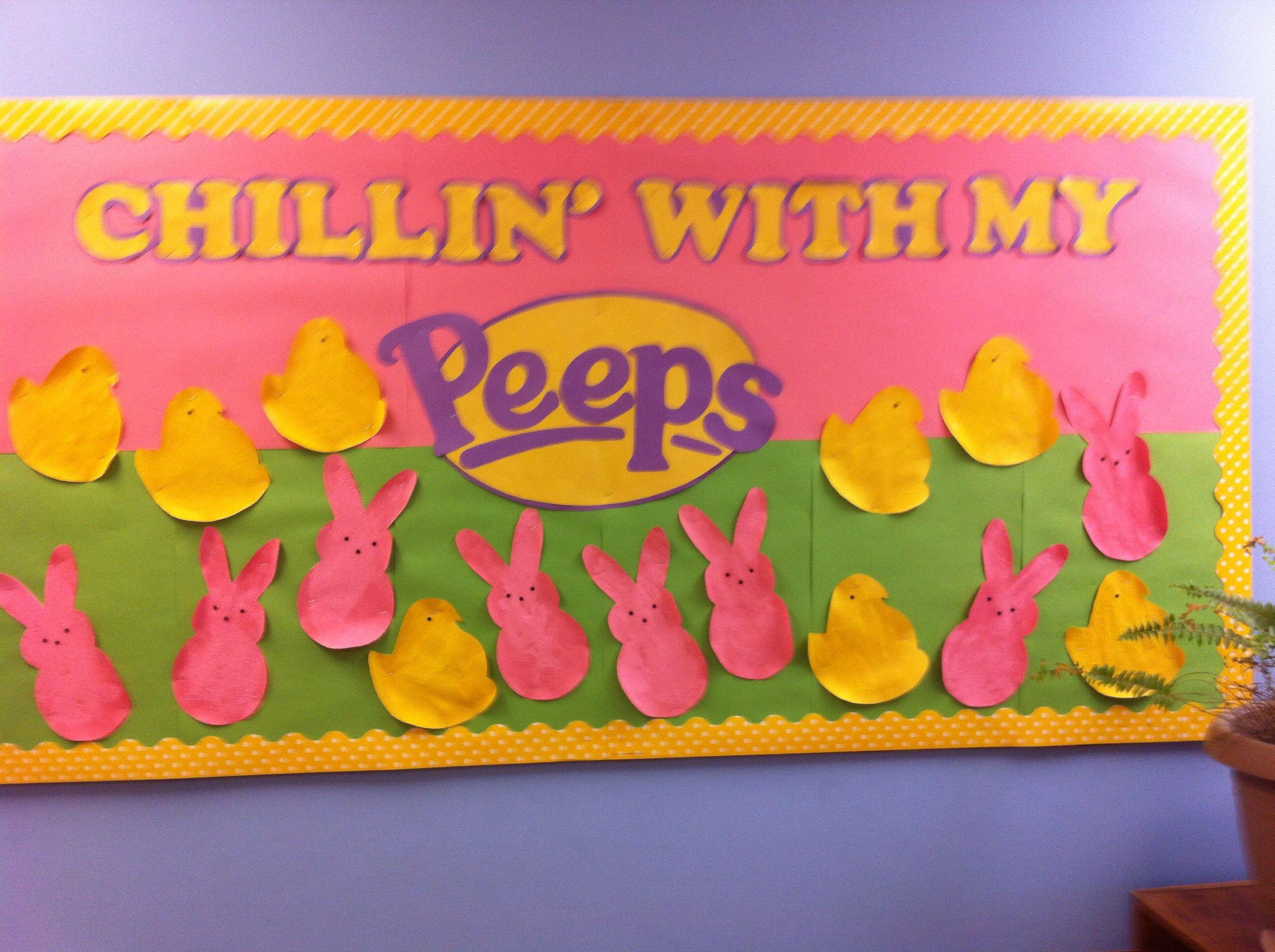 5Th Grade Easter Party Ideas  Easter bulletin board Peeps board Pre K 5th grade